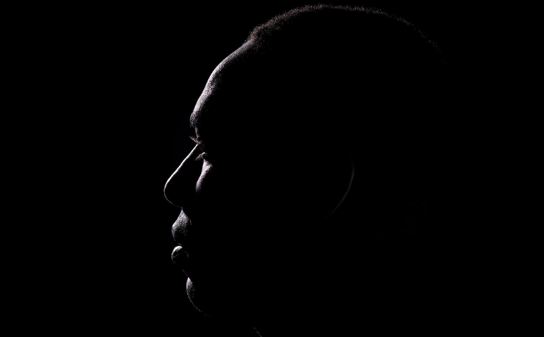 Moody Editorial Portrait of Black Man 10554-Bless-Silhouette-F