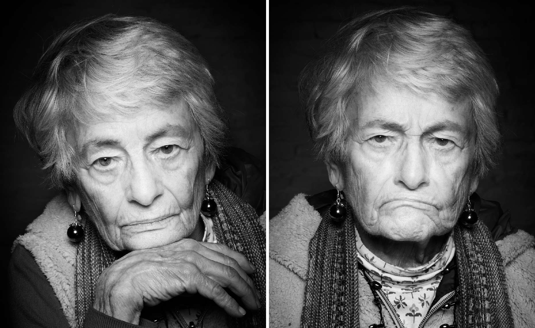 Moody portraits of Nonagenarian Woman Carolie-2up-Moody-V3