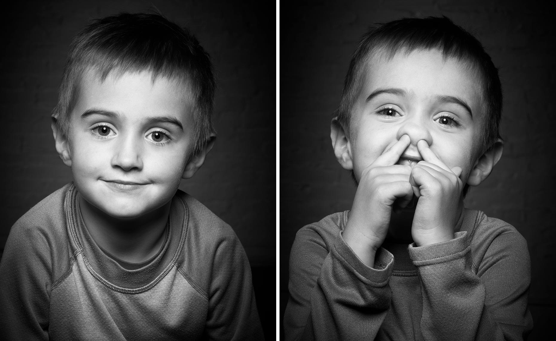 B&W Moody Portrait of a young boy having Fun-Macek_Anton-2up