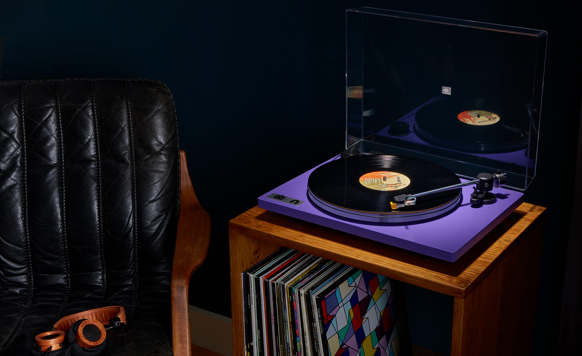 Audio Turntable Shot-4-Purple-Slight-Overhead_UTurn-7179-IP
